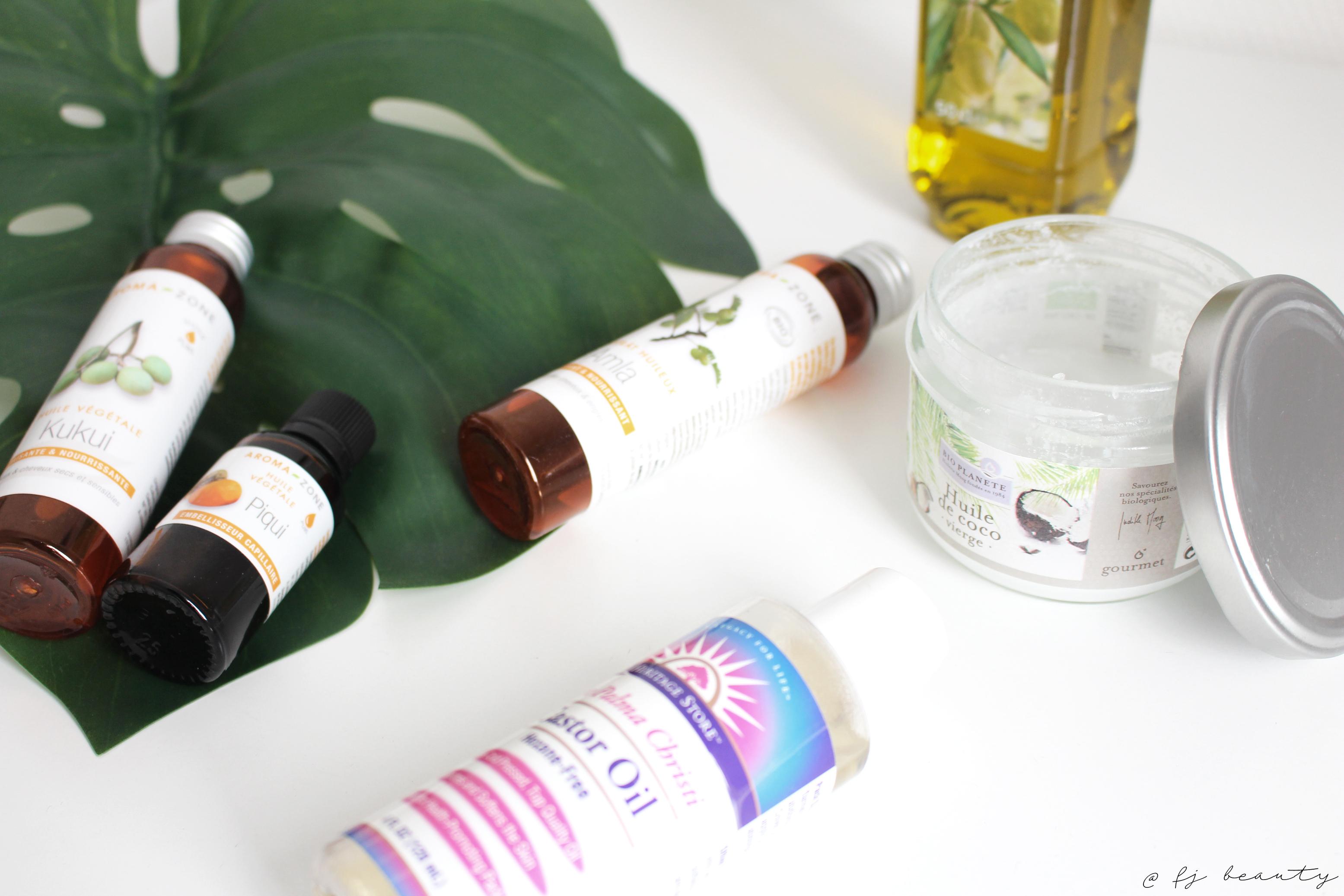 huiles vegetales cheveux