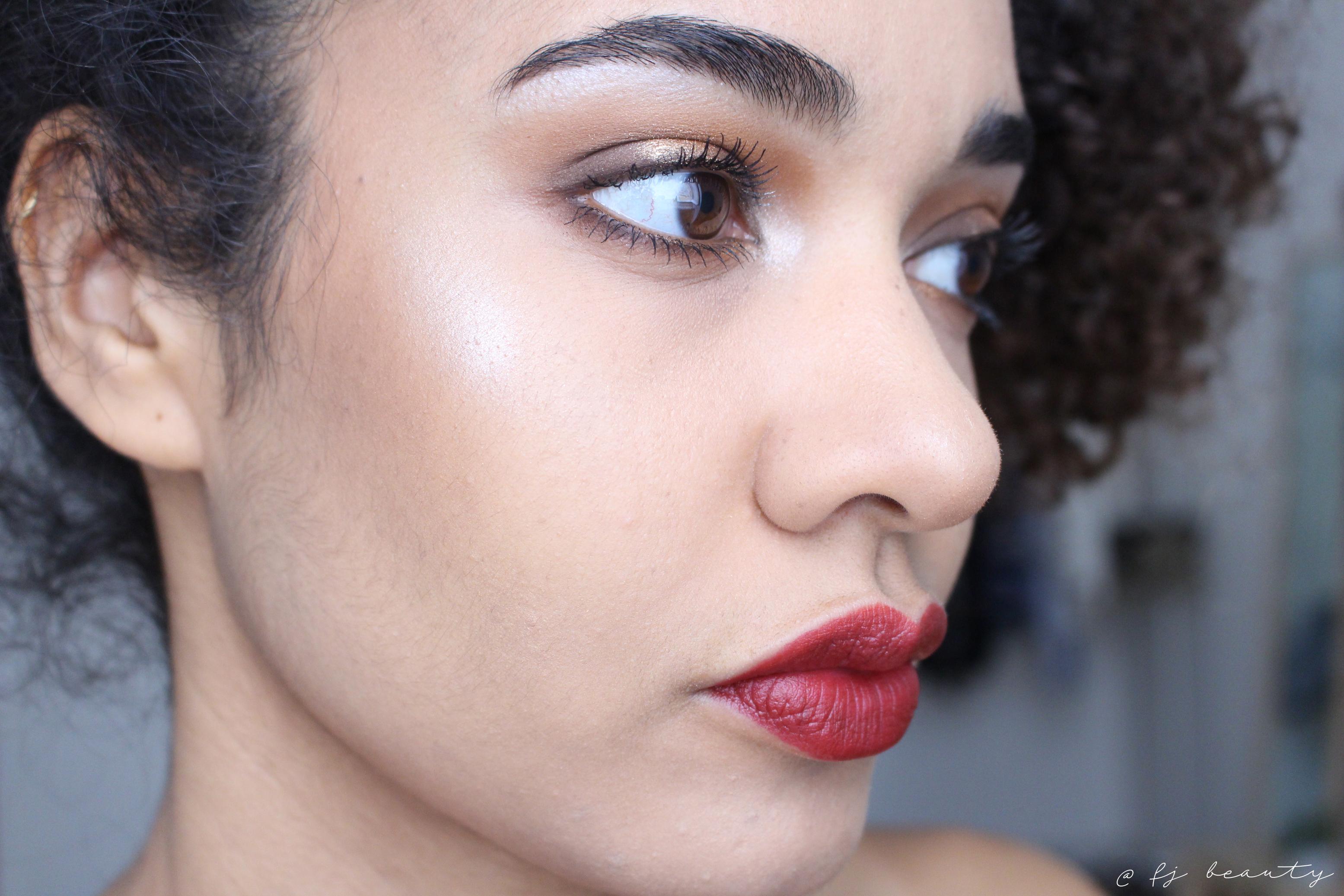 makeup brown gold