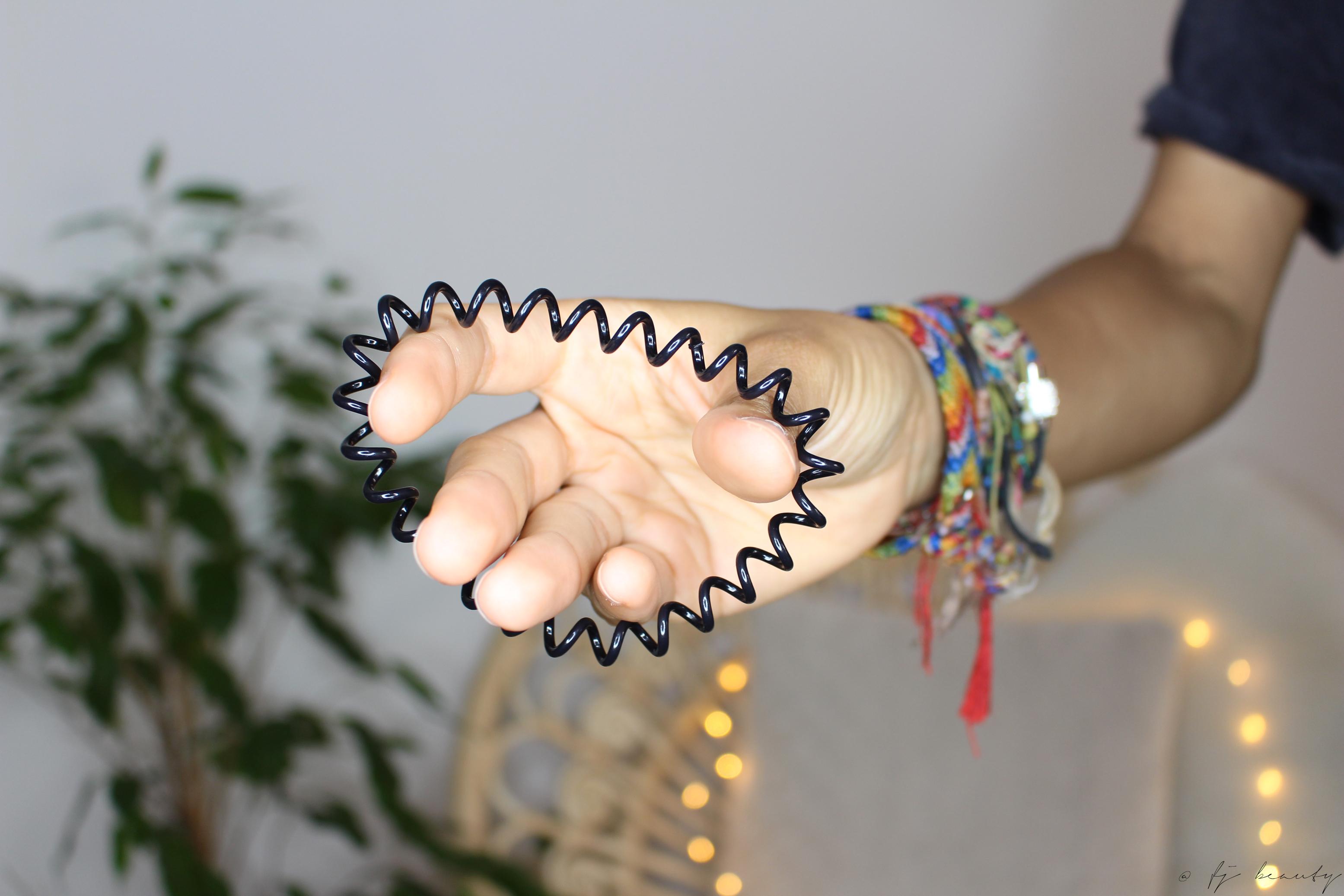 élastique spirale cheveux bouclés frisés