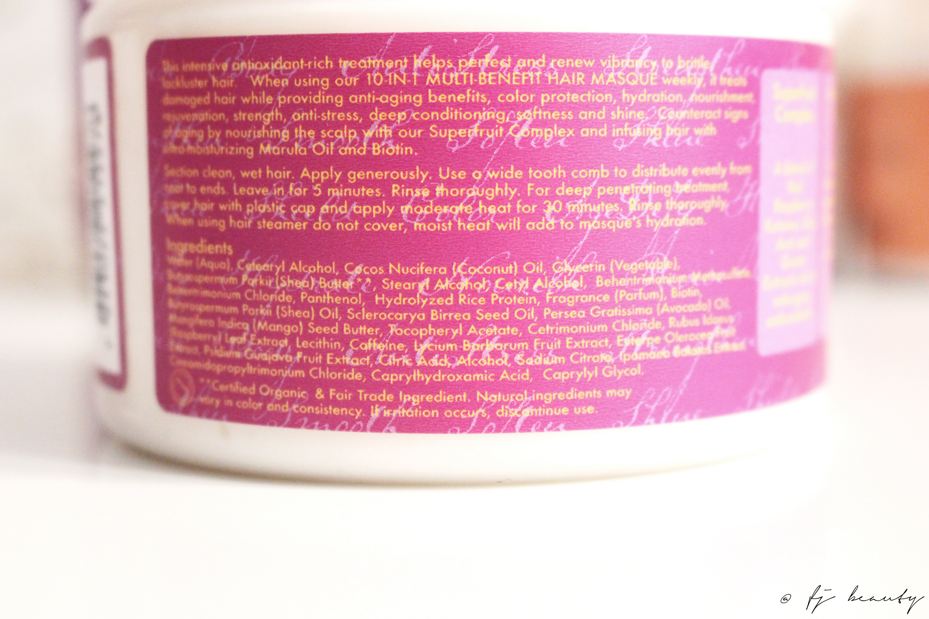 masque superfruit shea moisture