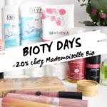 BIOTY DAYS : ma sélection chez Mademoiselle bio (-20%)